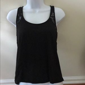 Black Tank With Laced Back